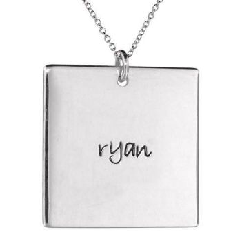 Picture of 1 Name Square Pendant