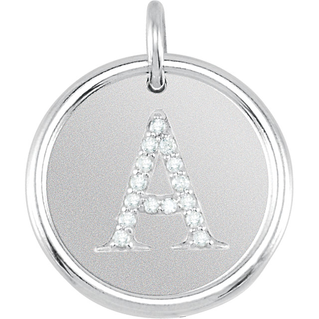 Picture of Initial A, Roxy Diamond Pendant