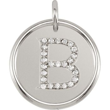 Picture of Initial B, Roxy Diamond Pendant