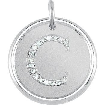 Picture of Initial C, Roxy Diamond Pendant