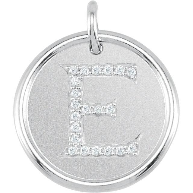 Picture of Initial E, Roxy Diamond Pendant