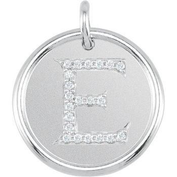 Picture of Initial E, Roxy Diamond Pendant