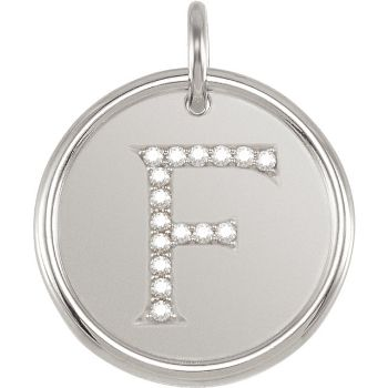 Picture of Initial F, Roxy Diamond Pendant