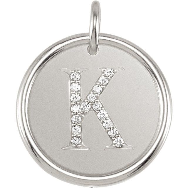 Picture of Initial K, Roxy Diamond Pendant