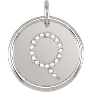 Picture of Initial Q, Roxy Diamond Pendant