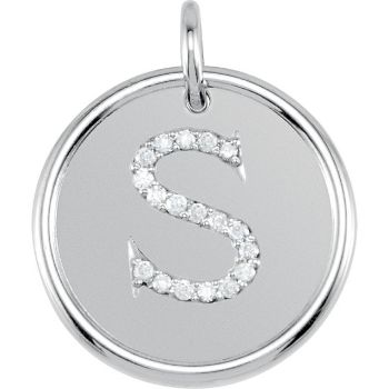 Picture of Initial S, Roxy Diamond Pendant