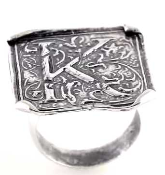 Picture of Initial K Vintage Ring