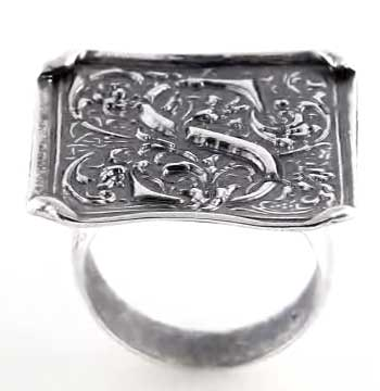 Picture of Initial S Vintage Ring