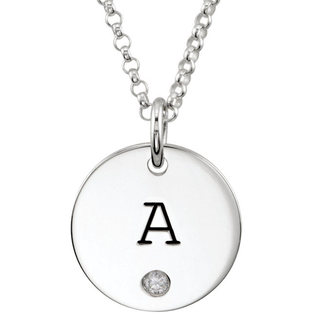 Picture of Large Disc Pendant with Stone