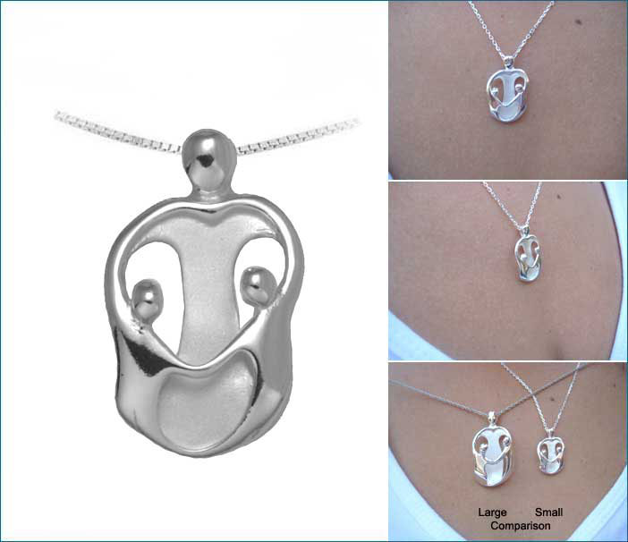 Picture of Small Mother and Two Children Pendant