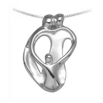 Picture of Small Two Parents and One Child Pendant