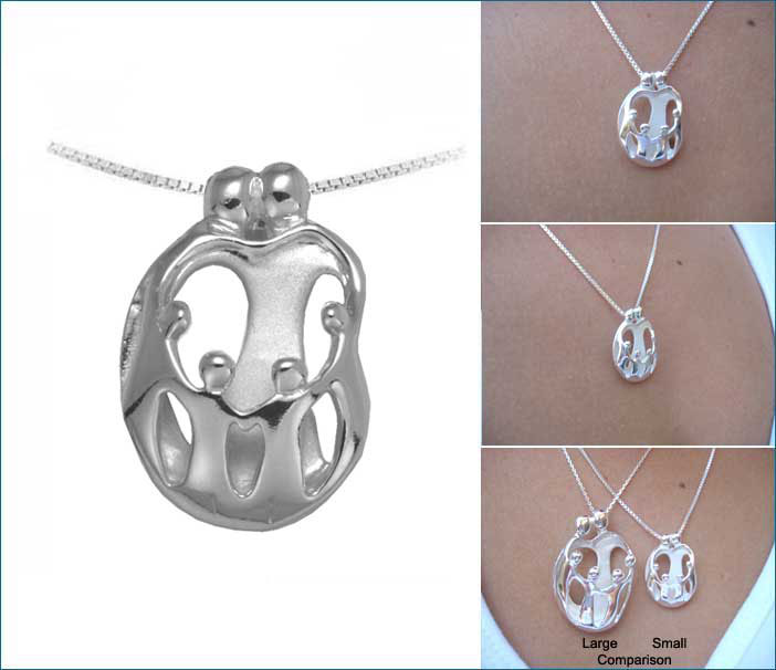 Picture of Small Two Parents and Four Children Pendant