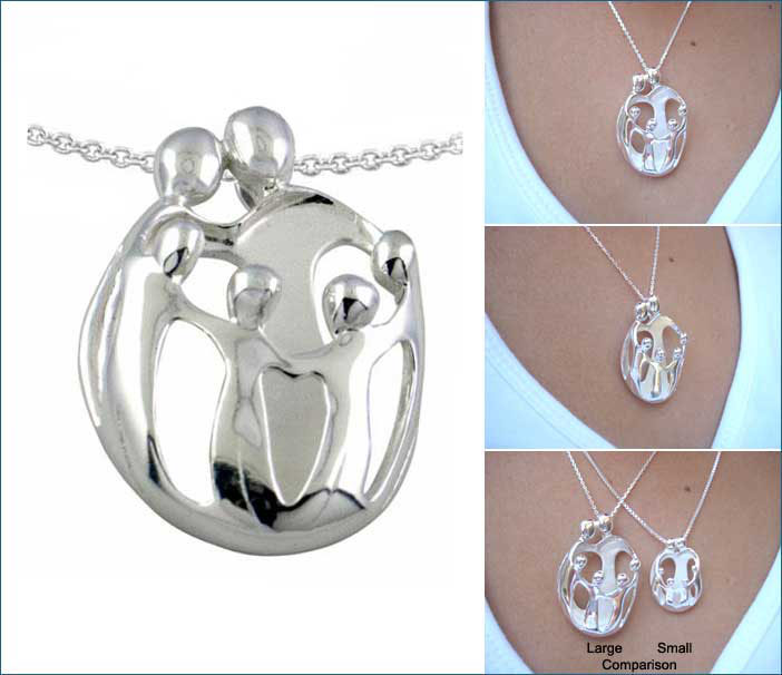 Picture of LARGE Two Parents and Four Children Pendant