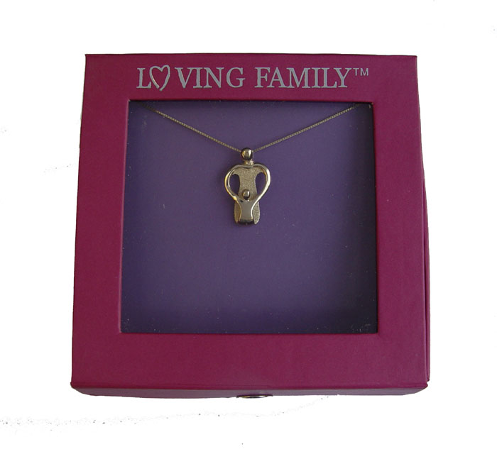 Picture of Gold Mother and One Child Pendant