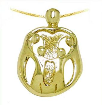Picture of Gold Mother and Four Children Pendant