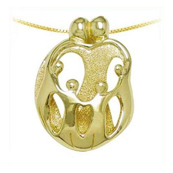 Picture of Gold Two Parents and Four Children Pendant