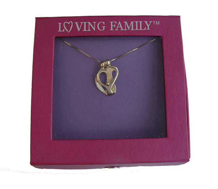 Picture of Gold Two Parents and One Child Pendant