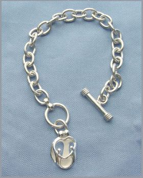 Picture of Silver Parents and Two Children Toggle Bracelet