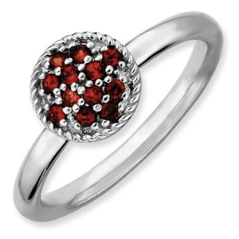 Picture of Silver Ring Garnet stones