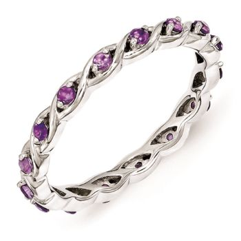 Picture of Silver Ring Amethyst Stones