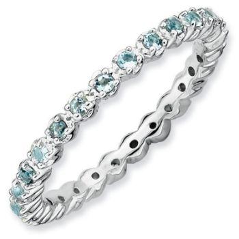 Picture of Silver Ring Aquamarine stones