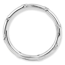 Picture of Sterling Silver Stackable Ring White Topaz stones