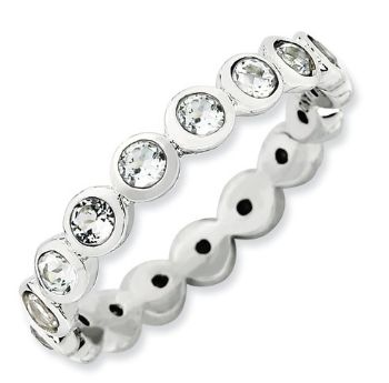 Picture of Silver Ring Swarovski White Topaz stones