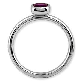 Picture of Silver Ring 1 Cushion-Cut Rhodolite Garnet Stone
