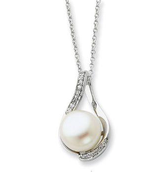 Picture of Silver Pearl Pendant, Forever Embrace