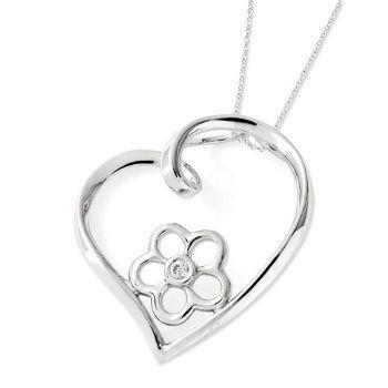 Picture of Silver CZ Heart Pendant