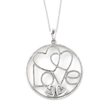 Picture of Silver CZ Necklace, Baby Makes Four