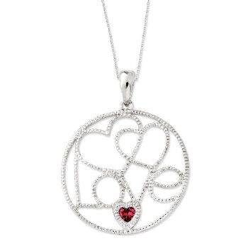 Picture of Silver CZ Necklace, Baby Makes Three, Girl