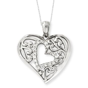 Picture of Silver CZ Necklace, Forever In My Heart