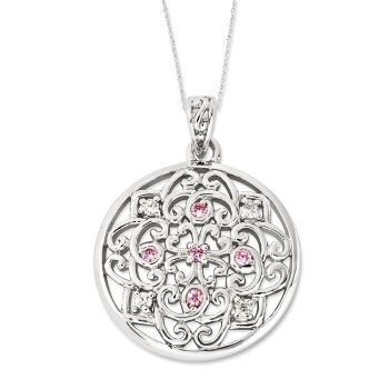 Picture of Silver CZ Necklace, Love Binds Us Together