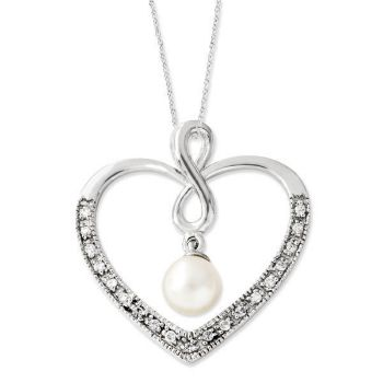Picture of Silver CZ Pearl Pendant, Forever My Friend