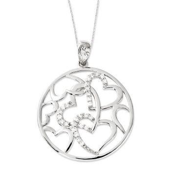 Picture of Silver CZ Pendant, Bound By Love