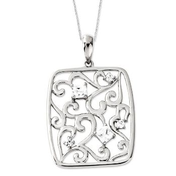 Picture of Silver CZ Pendant, Secret Of Friendship