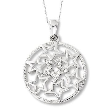 Picture of Silver CZ Pendant, Wish Upon A Star