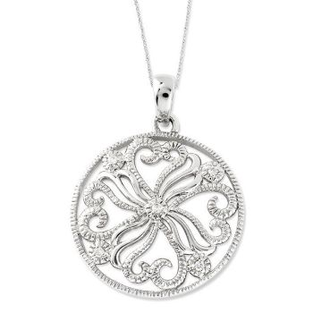 Picture of Silver CZ Swirls Pendant, Kindred Spirit