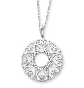 Picture of Silver Family Heart Strings Pendant