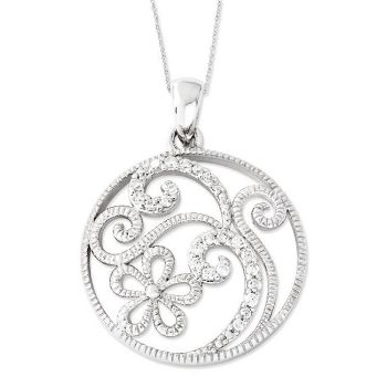 Picture of Silver Flower Pendant, Friendship in Bloom