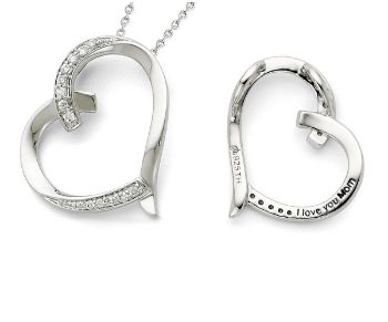 Picture of Silver I Love You Mom Necklace