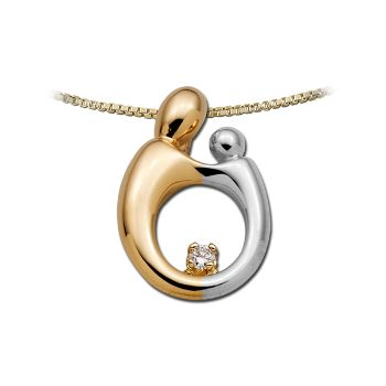 Picture of Large Two-Tone Pendant 14K Gold