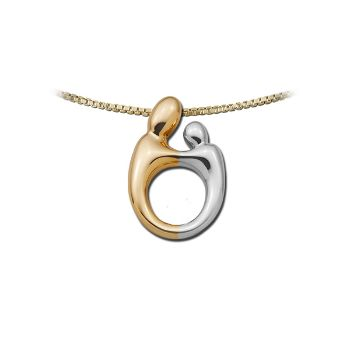 Picture of Small Two-Tone Pendant 14K Gold
