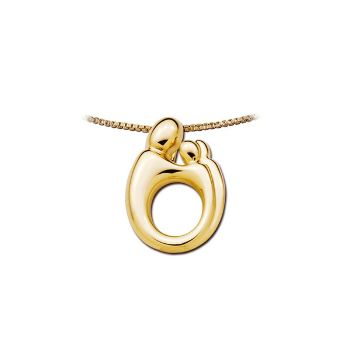 Picture of Small Mother & Twins Pendant 14K Yellow Gold