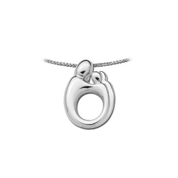 Picture of Small Mother & Twins Pendant 14K White Gold
