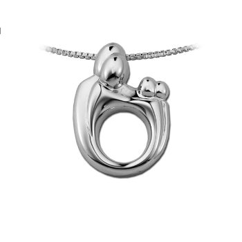 Picture of Large Family Twin Pendant 14K White Gold