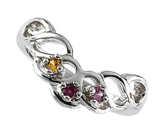 Picture of Silver 2 to 6 Stones Mother's Ring