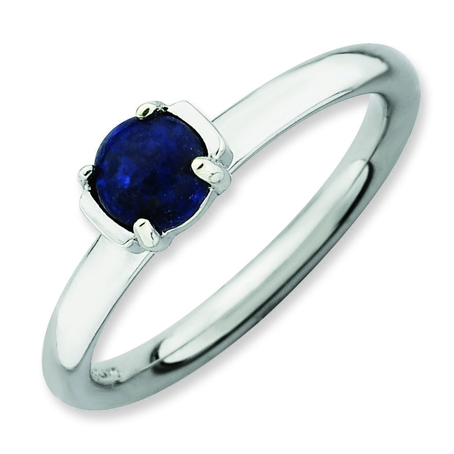 Picture of Silver Natural Blue Lapis Lazuli Stone Ring