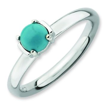 Picture of Silver Reconstituted Turquoise Stone Ring